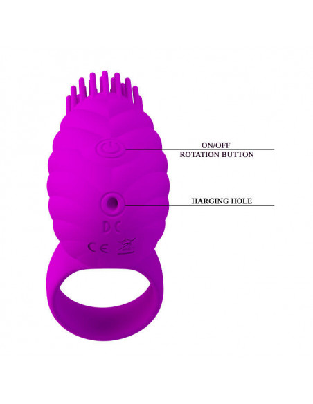 SILICONE ROTATING AND TEASER COCK RING GEORGIA PRETTY LOVE